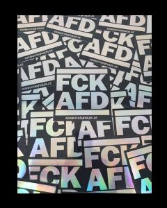 """KEIN BOCK AUF NAZIS 'FCK AFD' 40er Aufkleber Paket """"Glitzer"""""""
