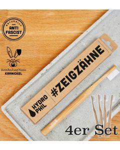 KEIN BOCK AUF NAZIS 'Zeig Zähne' Zahnbürste - 4er Set