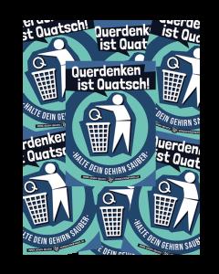 KEIN BOCK AUF NAZIS 'Querdenken ist Quatsch' 50er Aufkleber Paket