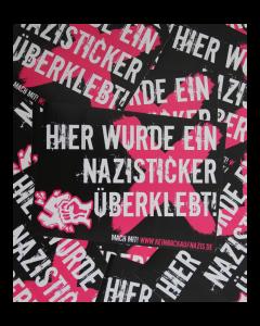 KEIN BOCK AUF NAZIS 'Nazis eine kleben' 50er Aufkleber Paket