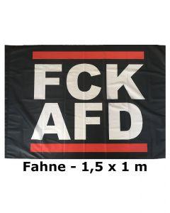 KEIN BOCK AUF NAZIS 'FCK AFD' Fahne