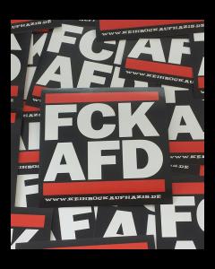 KEIN BOCK AUF NAZIS 'FCK AFD' 50er Aufkleber Paket