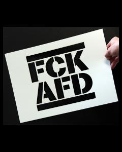 KEIN BOCK AUF NAZIS 'FCK AFD' Schablone