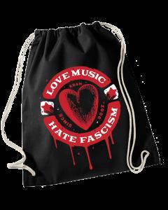 KEIN BOCK AUF NAZIS 'Love Music' Turnbeutel