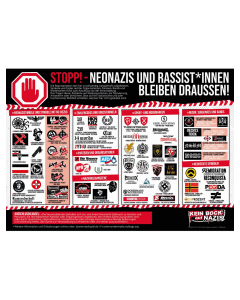 KEIN BOCK AUF NAZIS 'STOPP' Poster 2er Set
