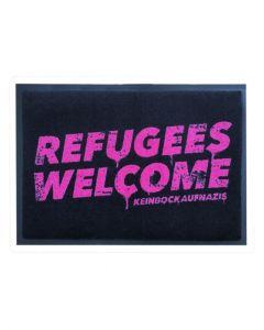KEIN BOCK AUF NAZIS 'Refugees Welcome' Fussmatte