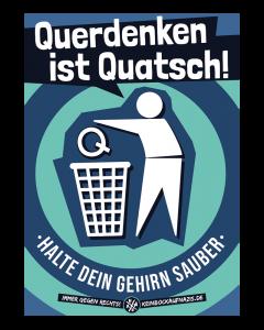 KEIN BOCK AUF NAZIS 'Querdenken ist Quatsch' 10er Poster Set