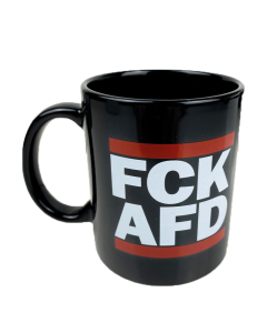 KEIN BOCK AUF NAZIS 'FCK AFD' Tasse schwarz