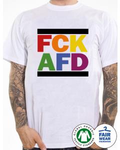 KEIN BOCK AUF NAZIS 'FCK AFD Rainbow' T-Shirt weiss