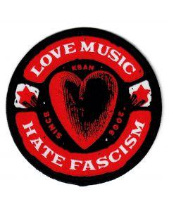 KEIN BOCK AUF NAZIS 'Love Music' Aufnäher